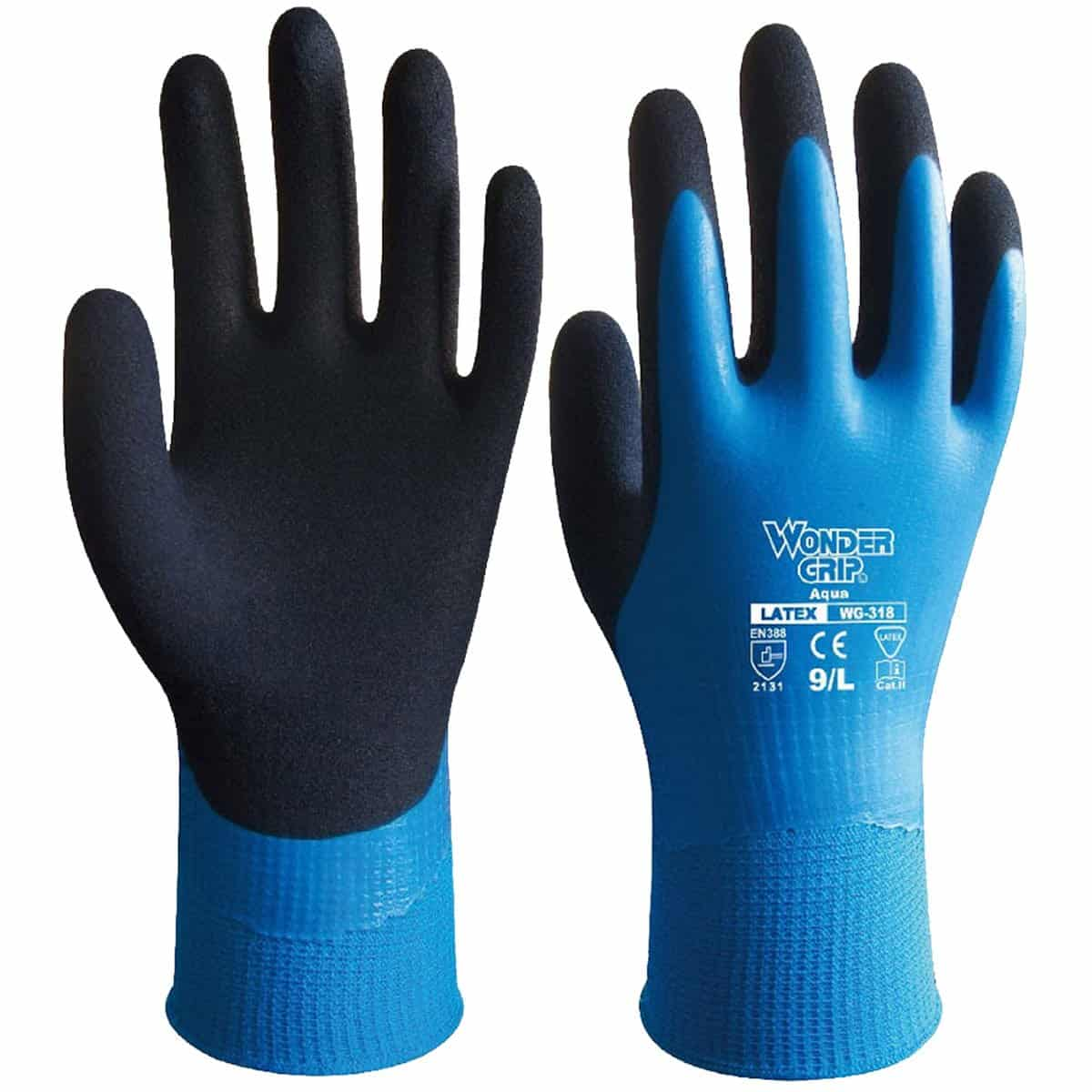 Bouti 1583 Wonder Grip Safety Waterproof Resistance Work Latex Gardening Nylon Gloves