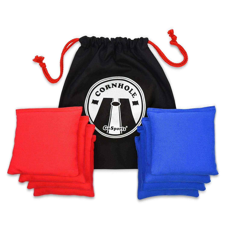 GoSports Premium All-Weather Duck Cloth Cornhole Bean Bag Set (Includes Tote Bag)