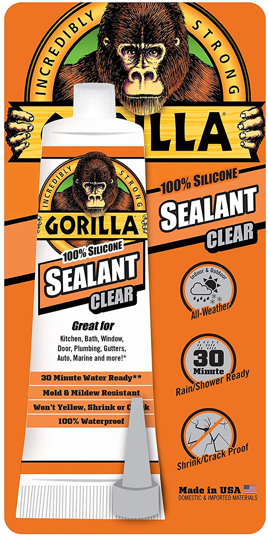 Gorilla 100 Percent Silicone Sealant Caulk