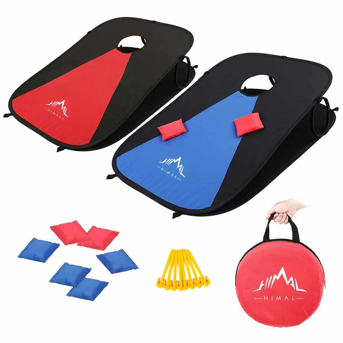 Himal Collapsible Portable Corn Hole Boards With 8 Cornhole Bean Bags