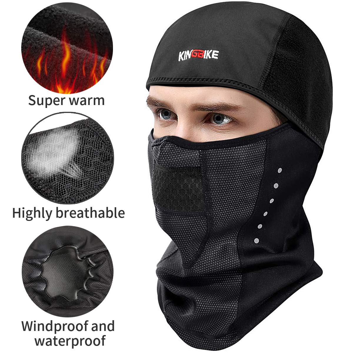 KINGBIKE Balaclava Ski Mask for Men Women