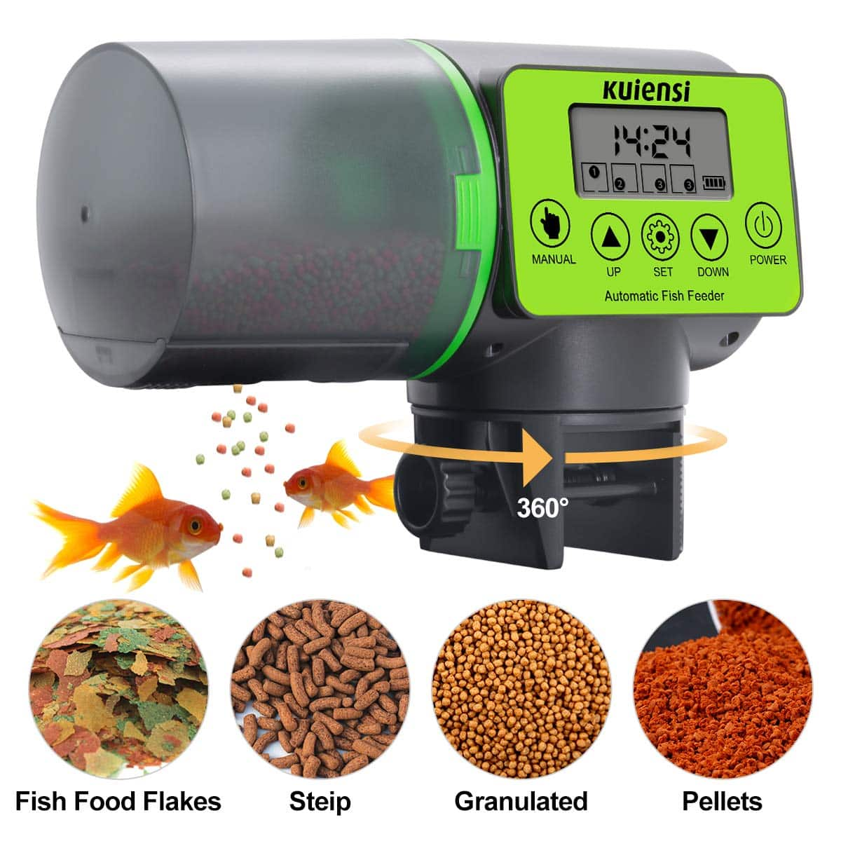 KUIENSI Automatic Fish Feeder