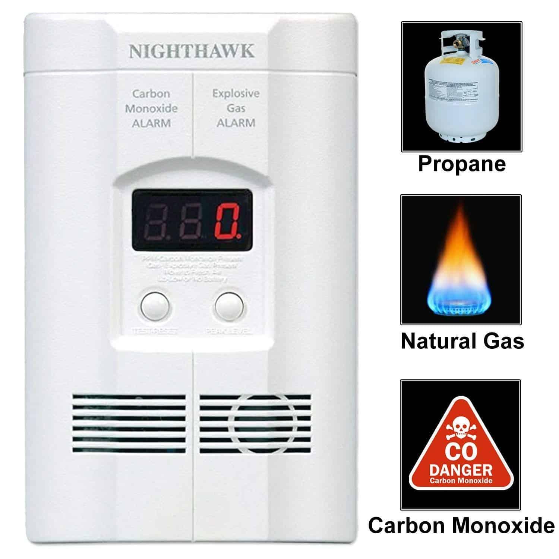 Kidde Ac Plug-in Carbon Monoxide and Explosive Gas Detector Alarm