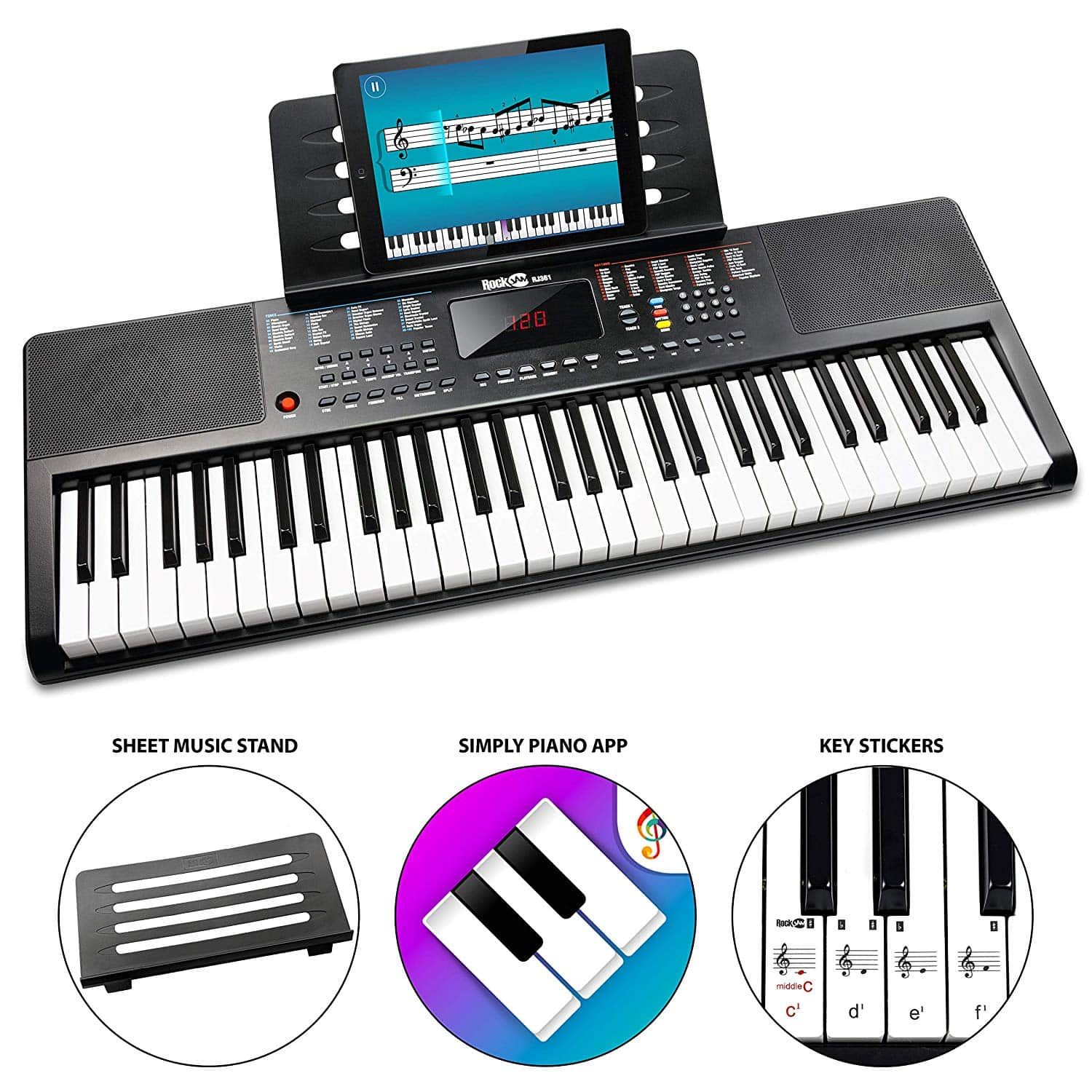 Rockjam 61+ keyboard piano