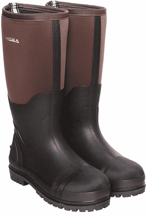 Hisea rubber hunting boots