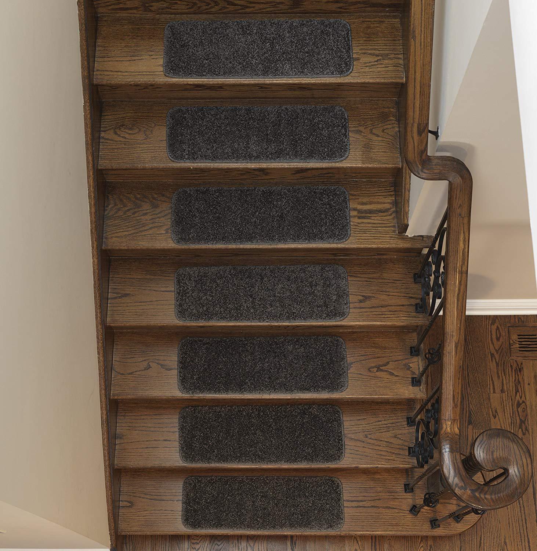 Sweethome Stores Non-Slip Shag Carpet Stair Treads