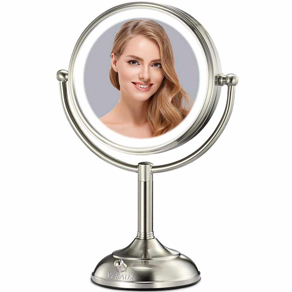 "Vesaur Professional 10"" Lighted Makeup Mirror"