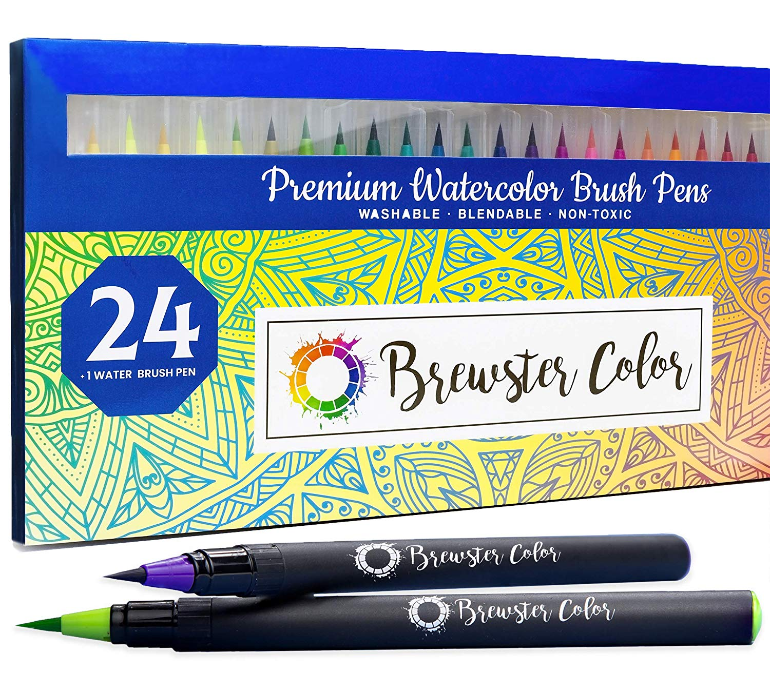 Watercolor Brush Pens by Brewster Color