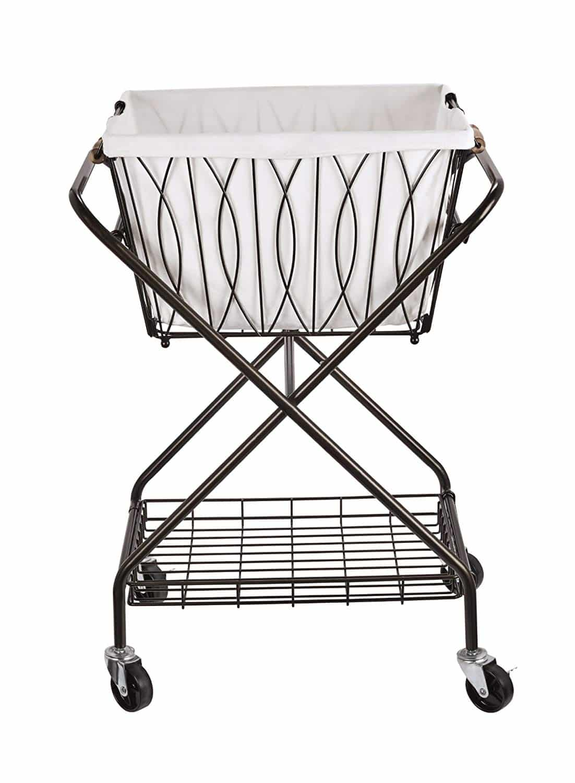 Artesa Verona Collapsible Metal Laundry Cart