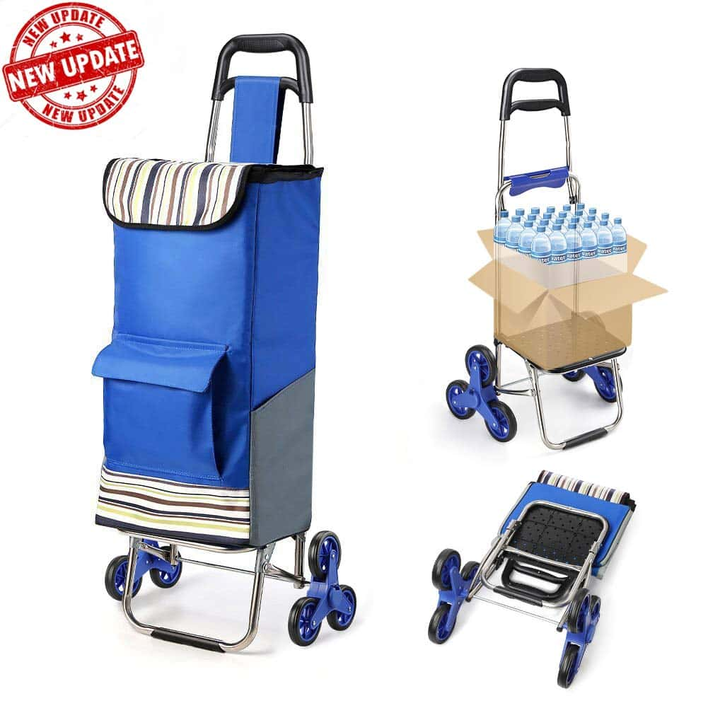 Folding Shopping Cart Extended Handle Tomser