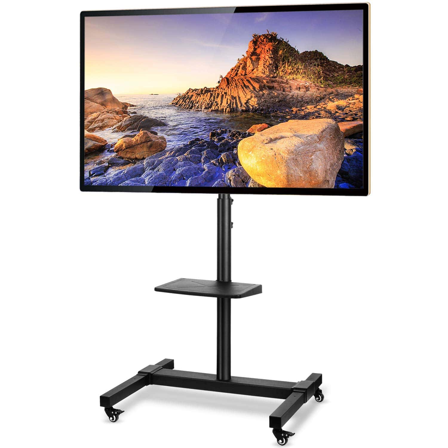 5Rcom Mobile TV Cart Rolling TV Stand