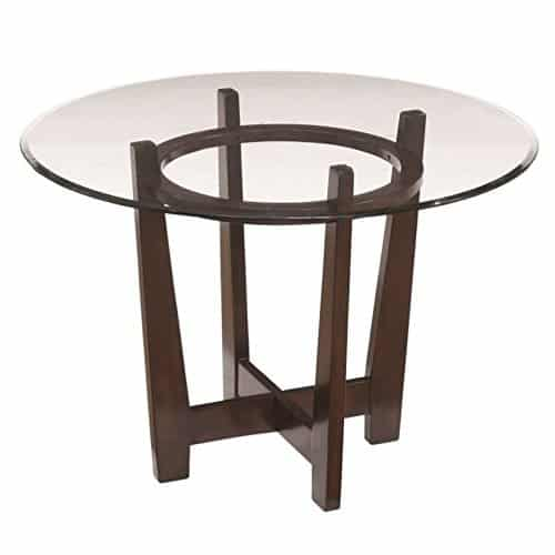BOWERY HILL Glass Round Dining Table