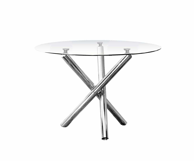 Best Master Furniture Crystal 5 Pcs Round Glass Top Dinette Set
