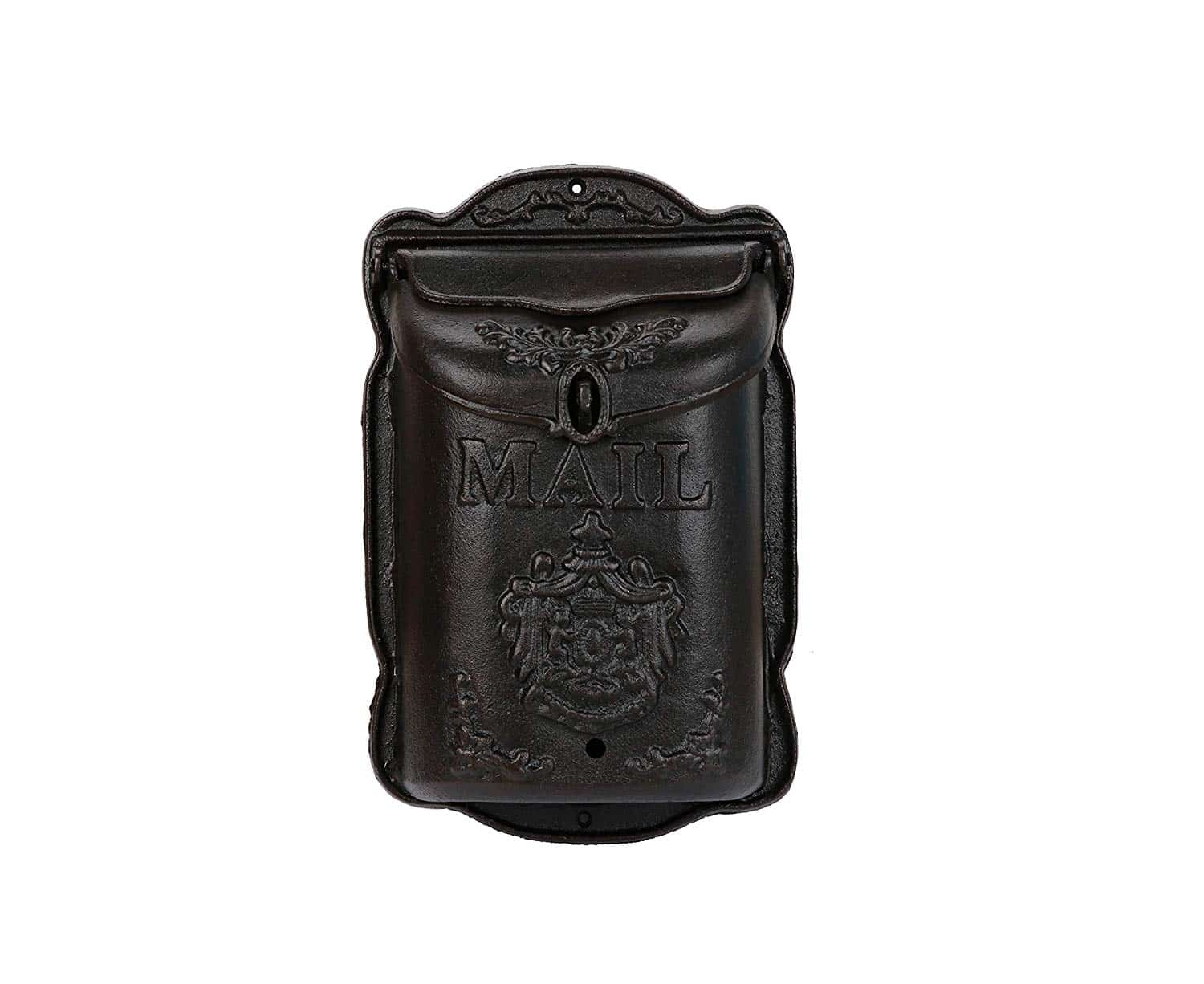 Cast Iron Lockable Wall Mounted Mailbox