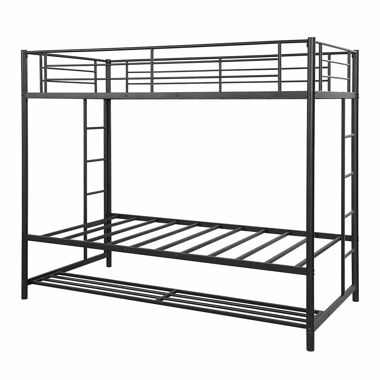DERCASS Modern Style Metal Frame Bunk Beds