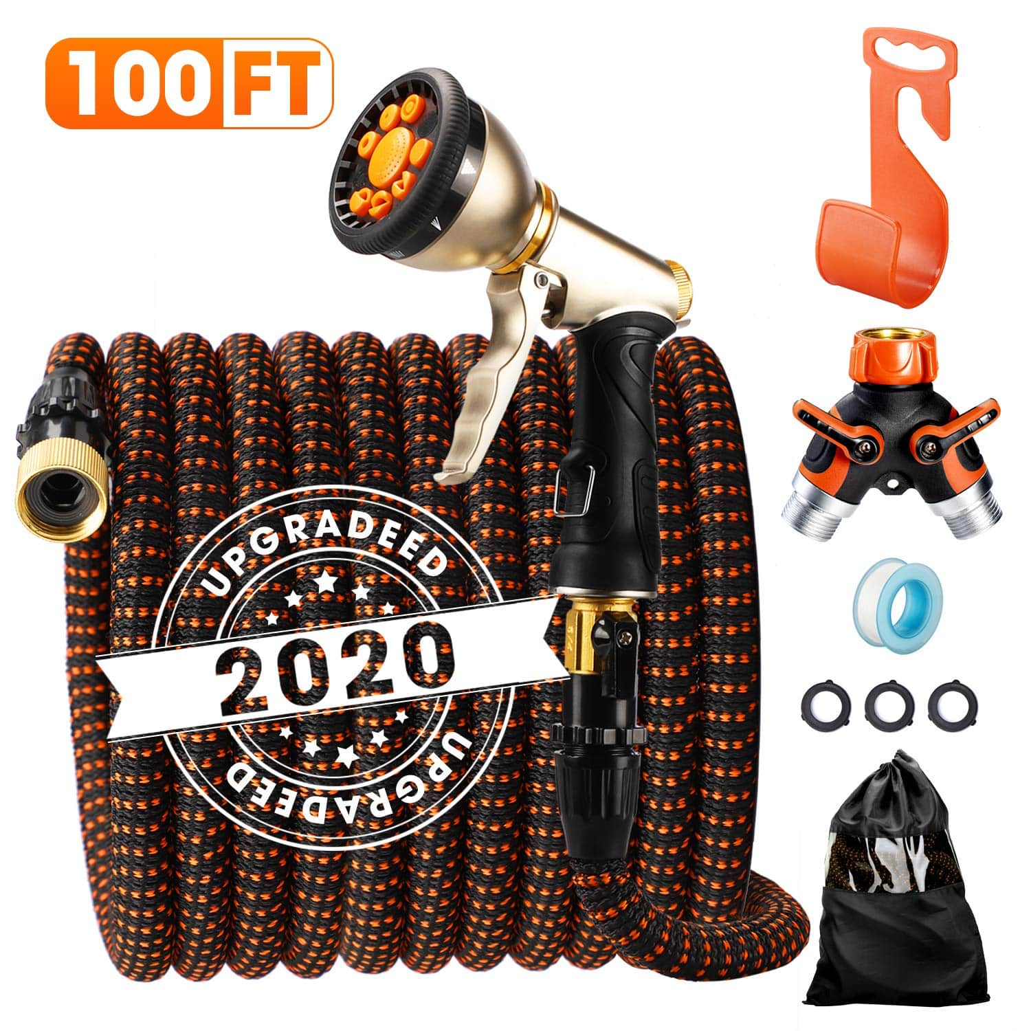 Delxo 2020 Upgrade100FT Expandable Garden Hose