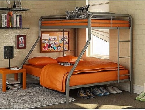 Dorel Twin-Over-Full Metal Bunk Bed