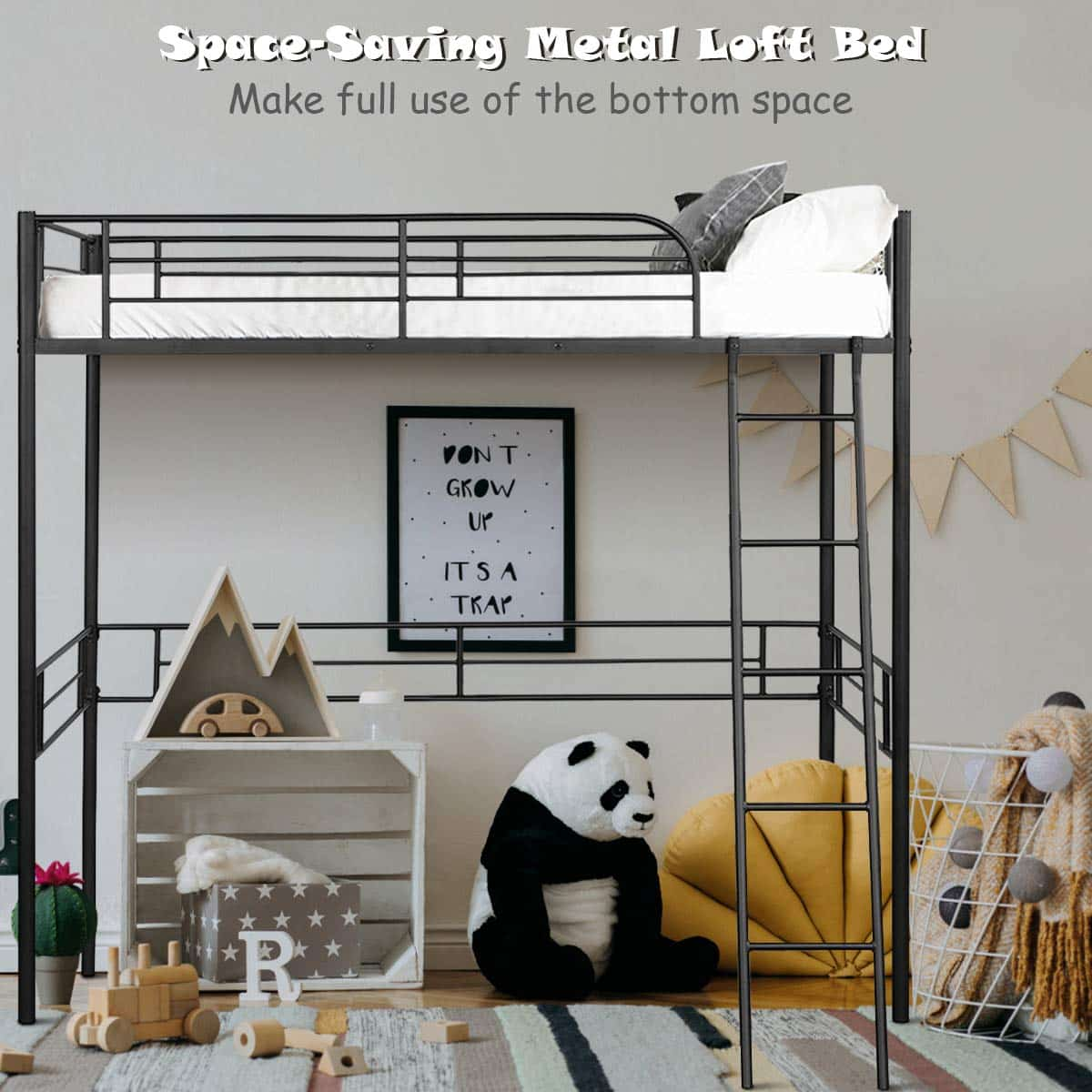 Giantex Metal Loft Bed Frame