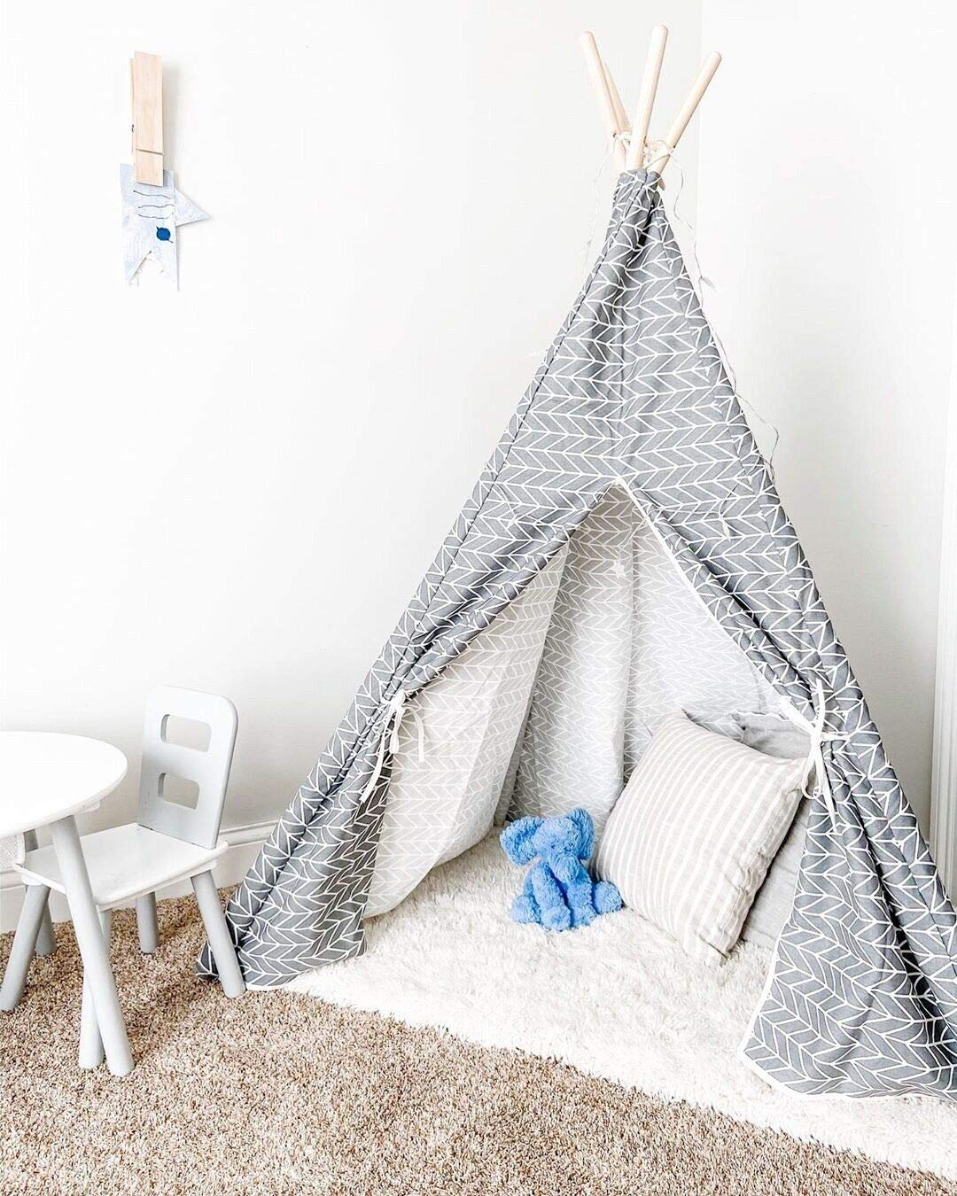 Little Dove Kid's Foldable Teepee Play Tent