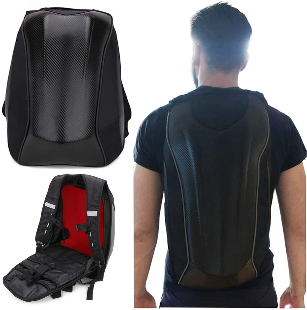 Motorcycle Backpack Waterproof Hard Shell