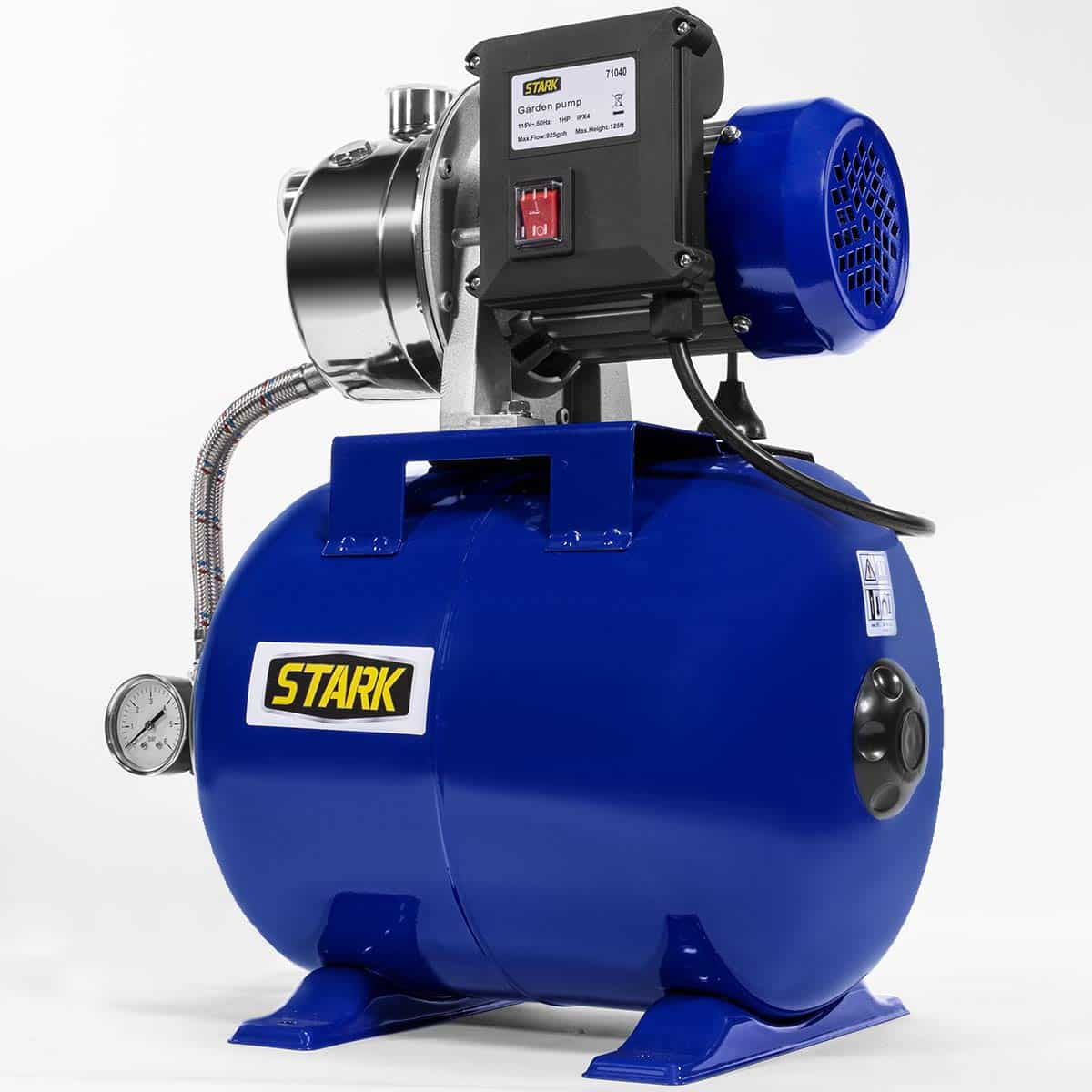 Shallow Well Pump Tank Booster System Pressurized Farm Irrigation Garden Water Pump