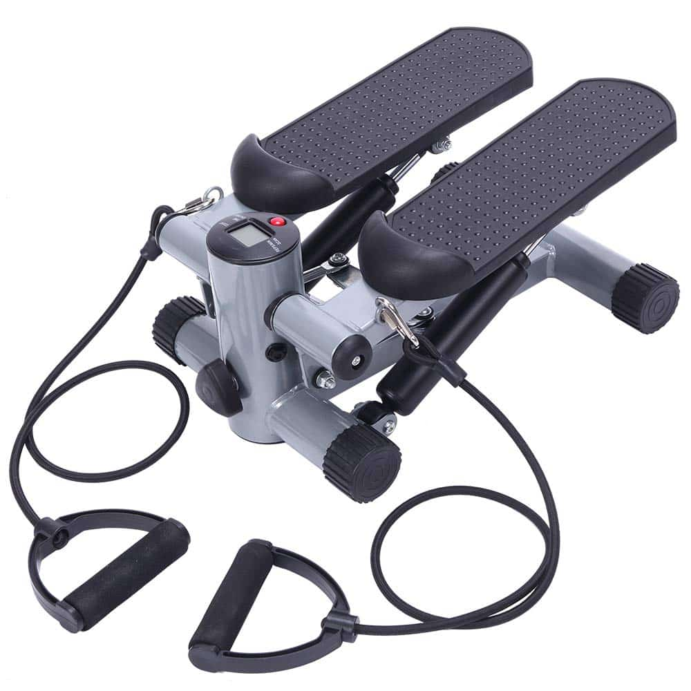 TECHMOO Mini Stepper Trainer Adjustable Height Stepper Exercise Machine