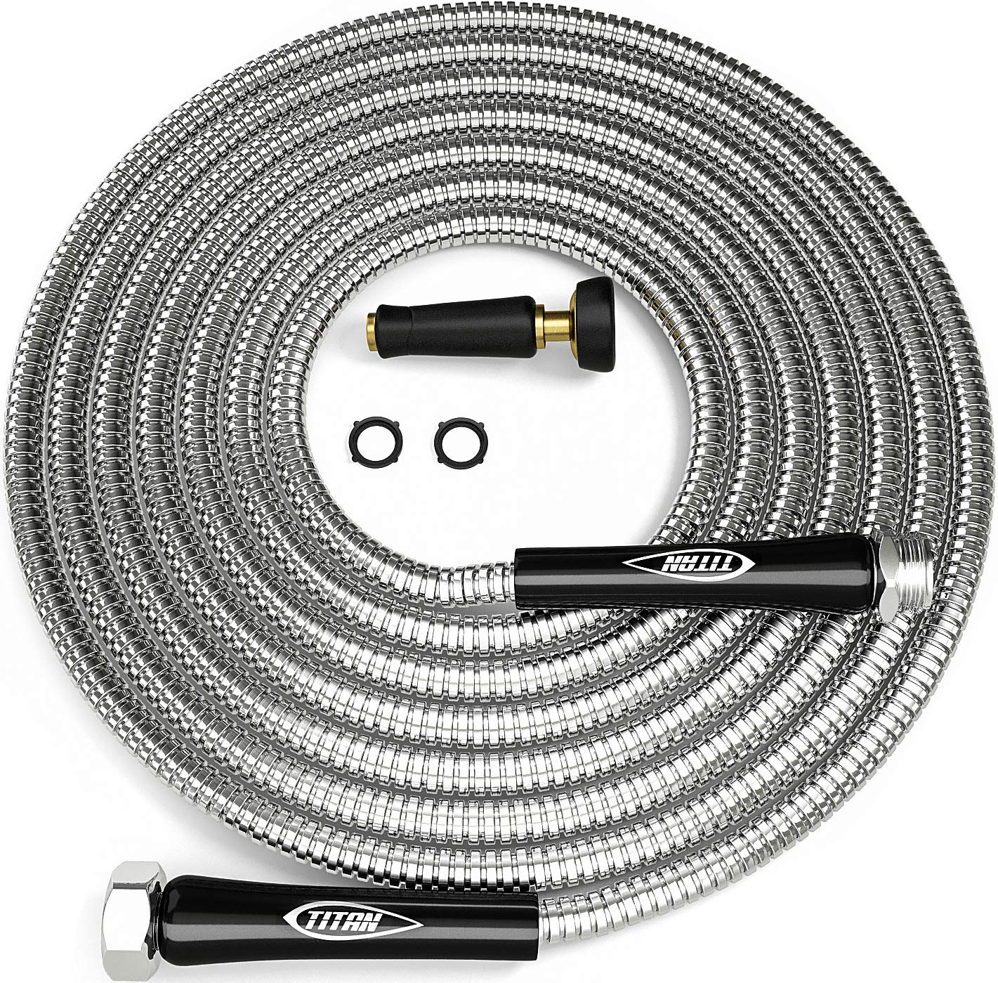TITAN 100FT Metal Garden Hose