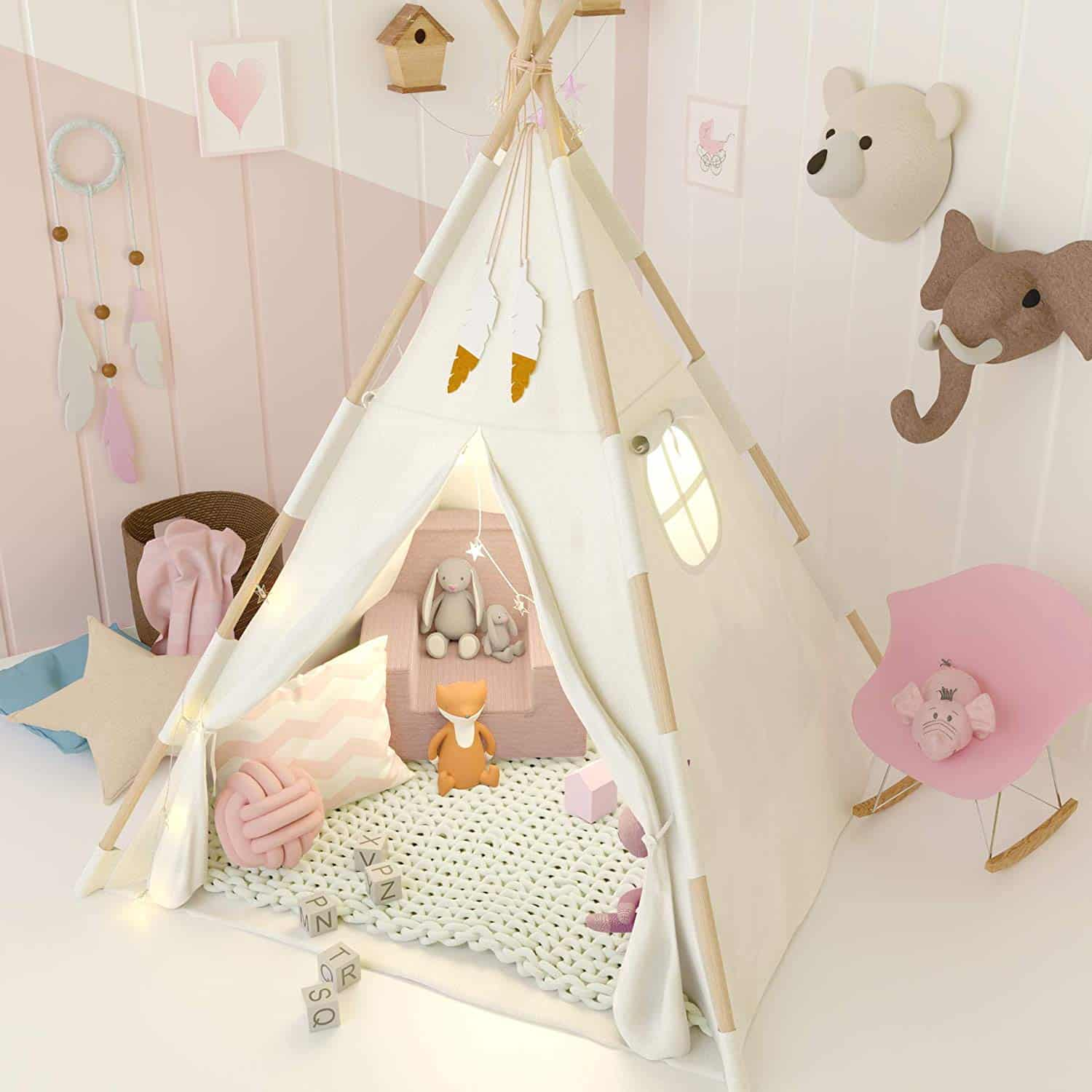 TazzToys Kids Teepee Tent for Kids