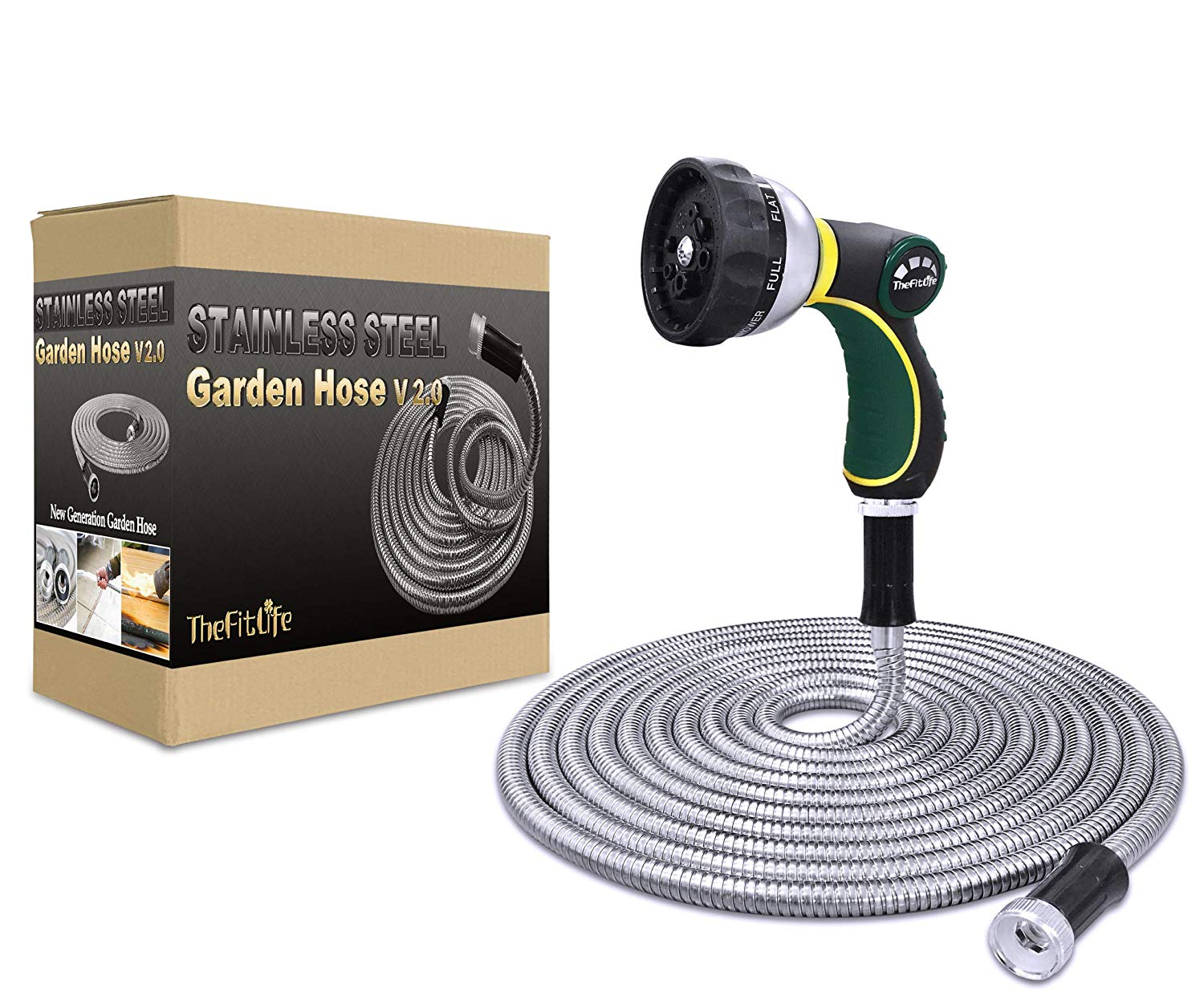 TheFitLife Flexible Metal Garden Hose
