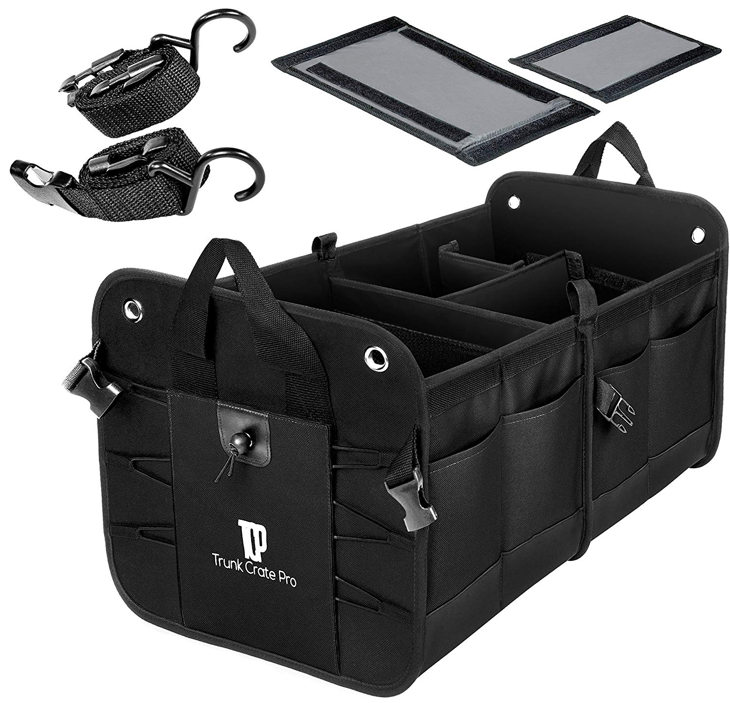 Trunkcratepro Collapsible Pro Portable Multi Compartments Trunk Organizer