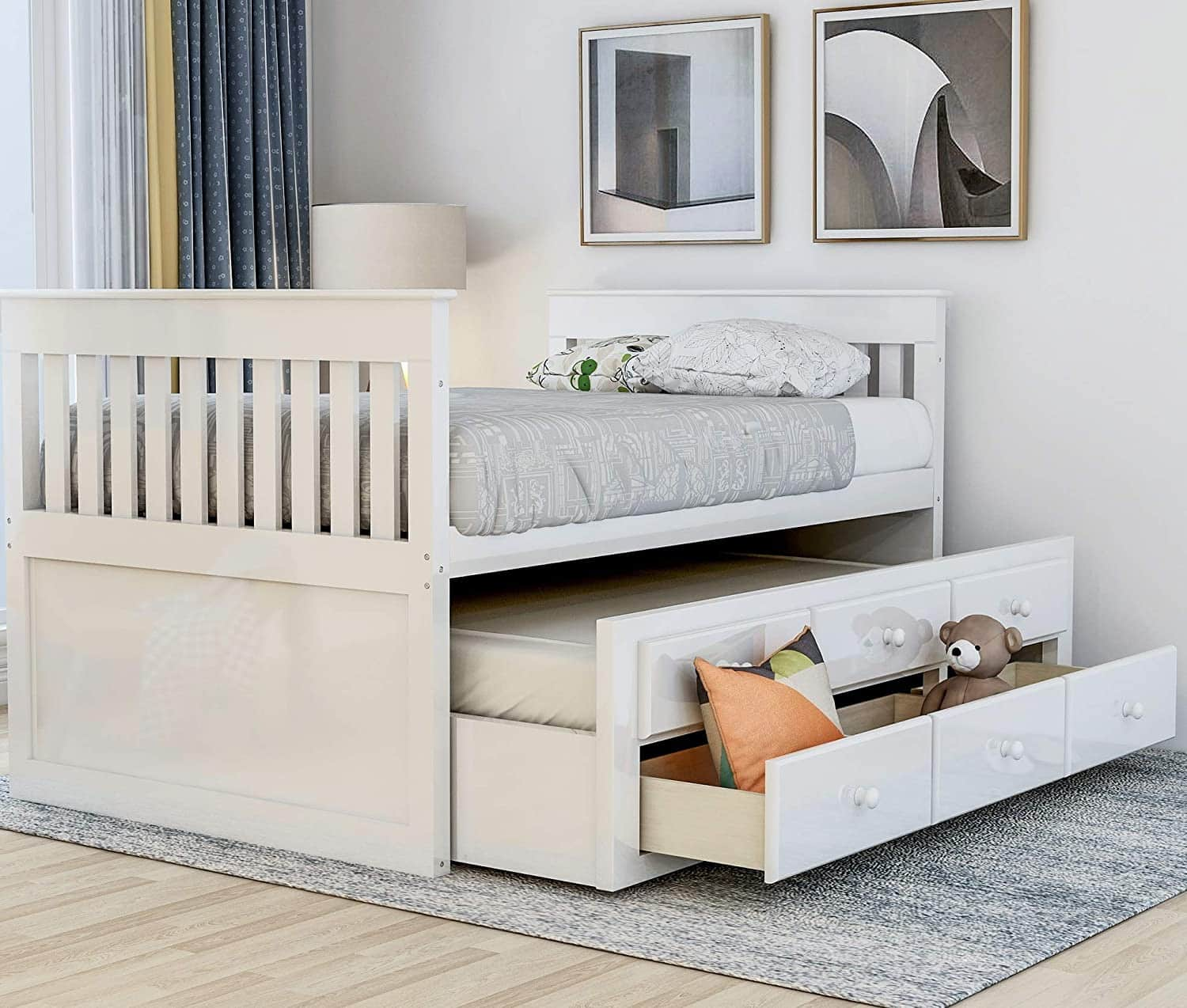 Twin Captain's Trundle Beds