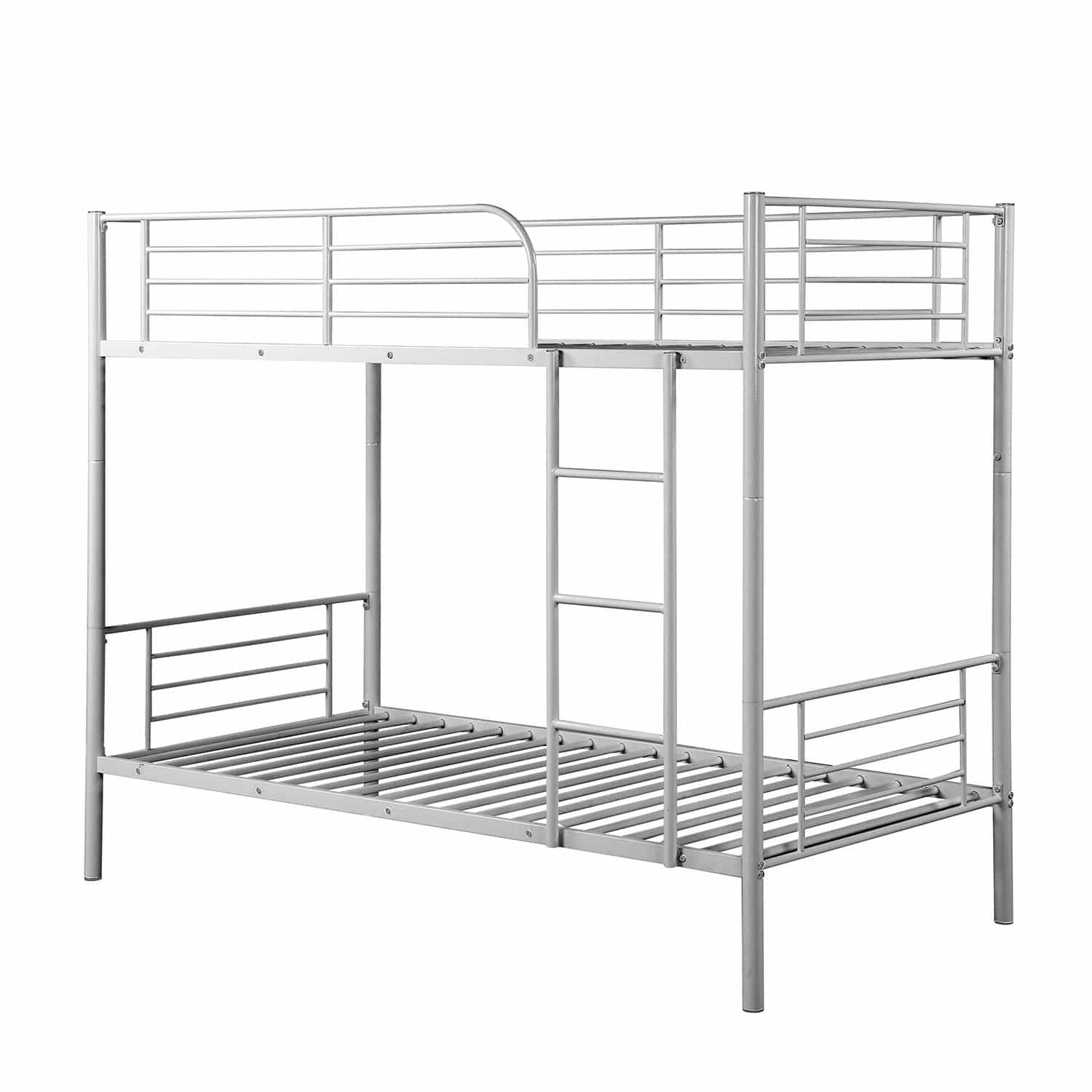 Twin Over Twin Metal Bunk Beds, Rockjame