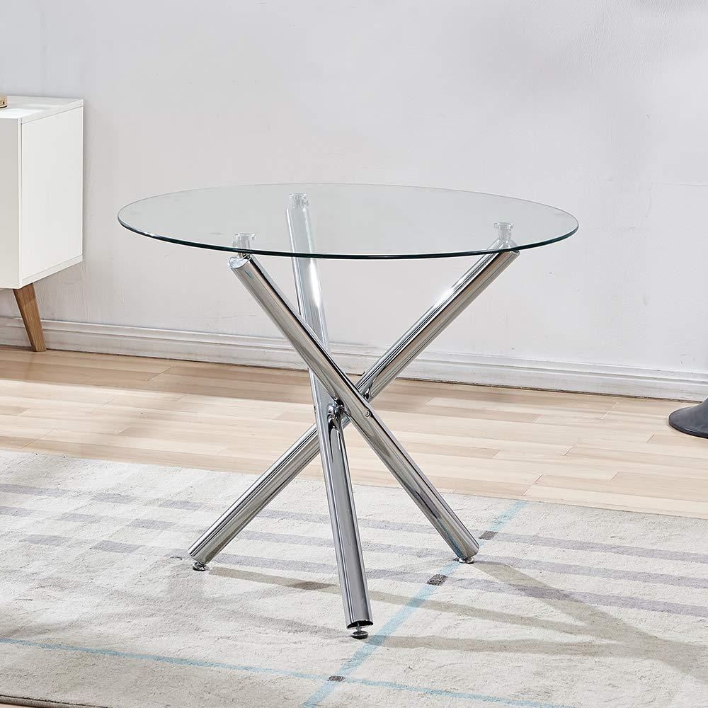 WENYU Glass Dining Table Set