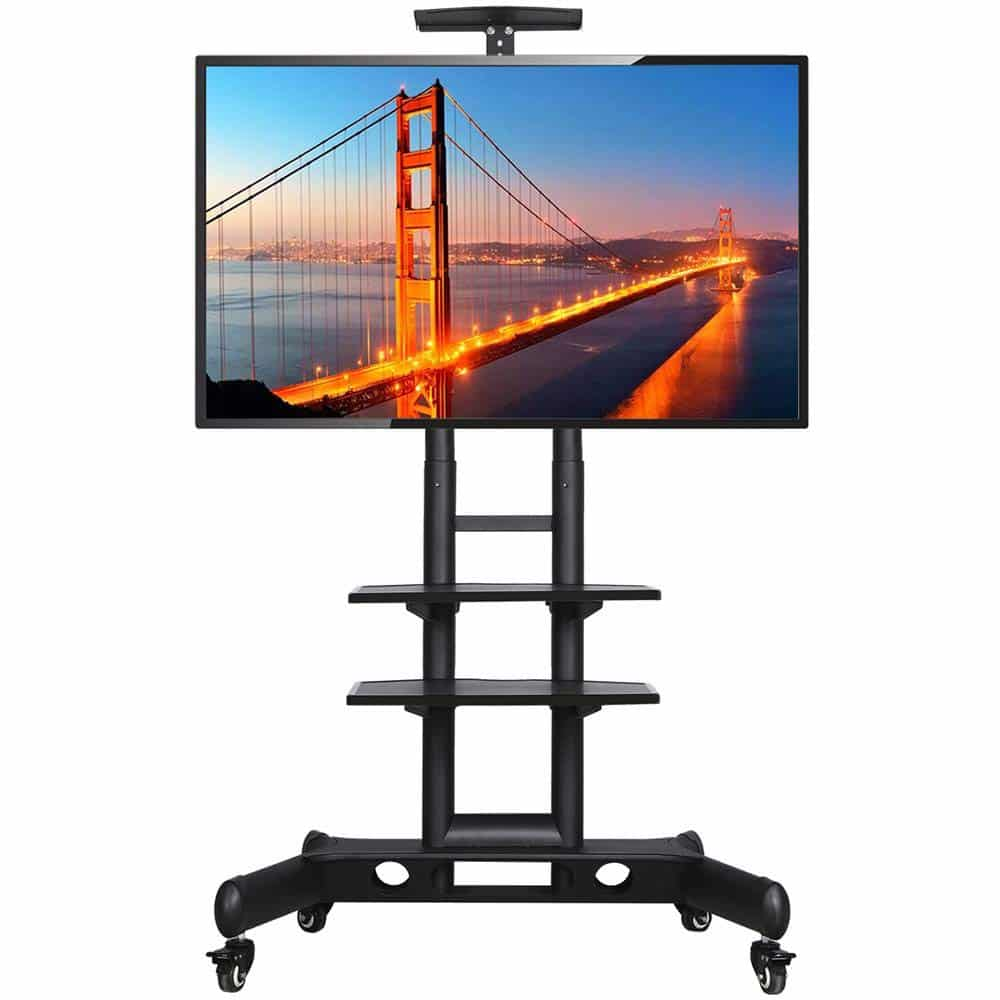 Yaheetech Adjustable Mobile TV Stand