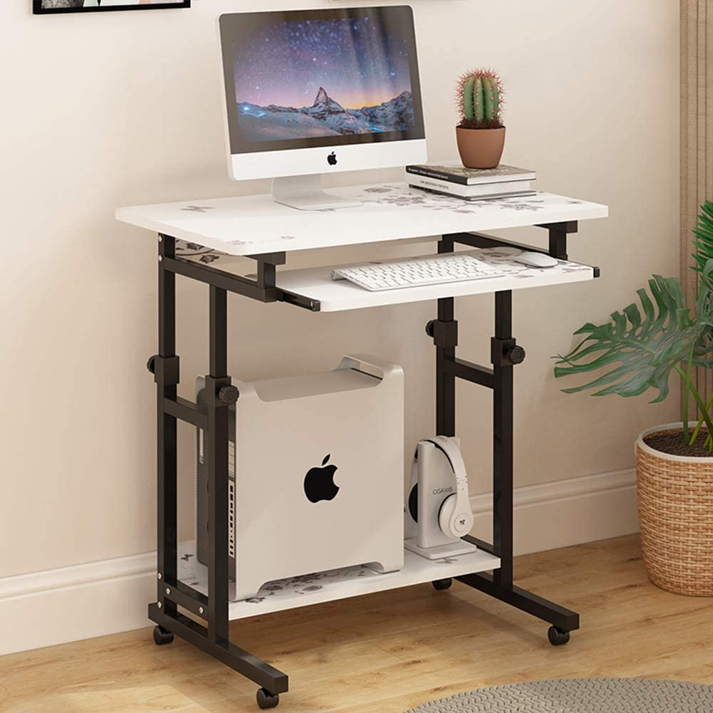 ALIPC Movable Lifting Computer Desk with Keyboard Tray