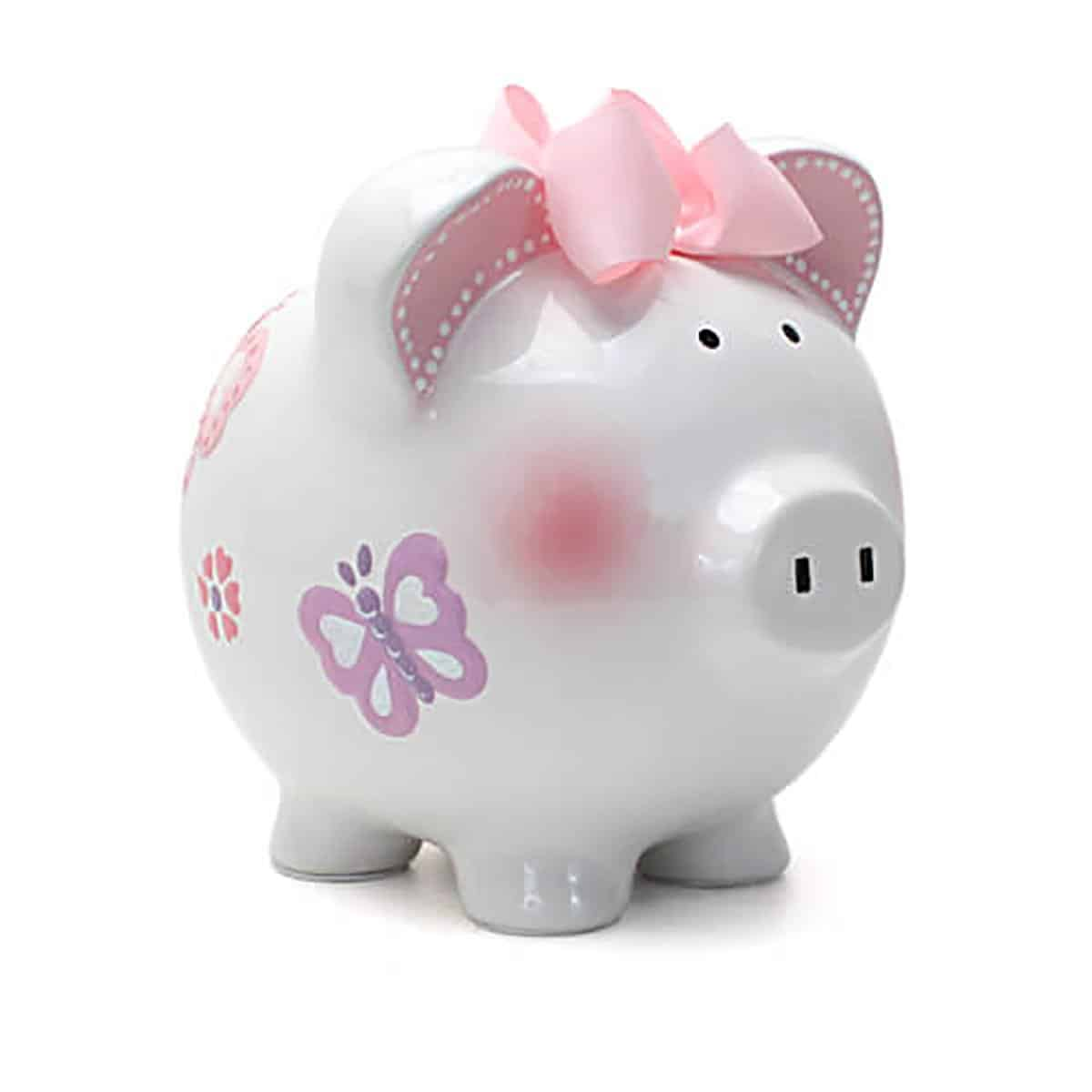 Child to Cherish Girls Ceramic Piggy Bank