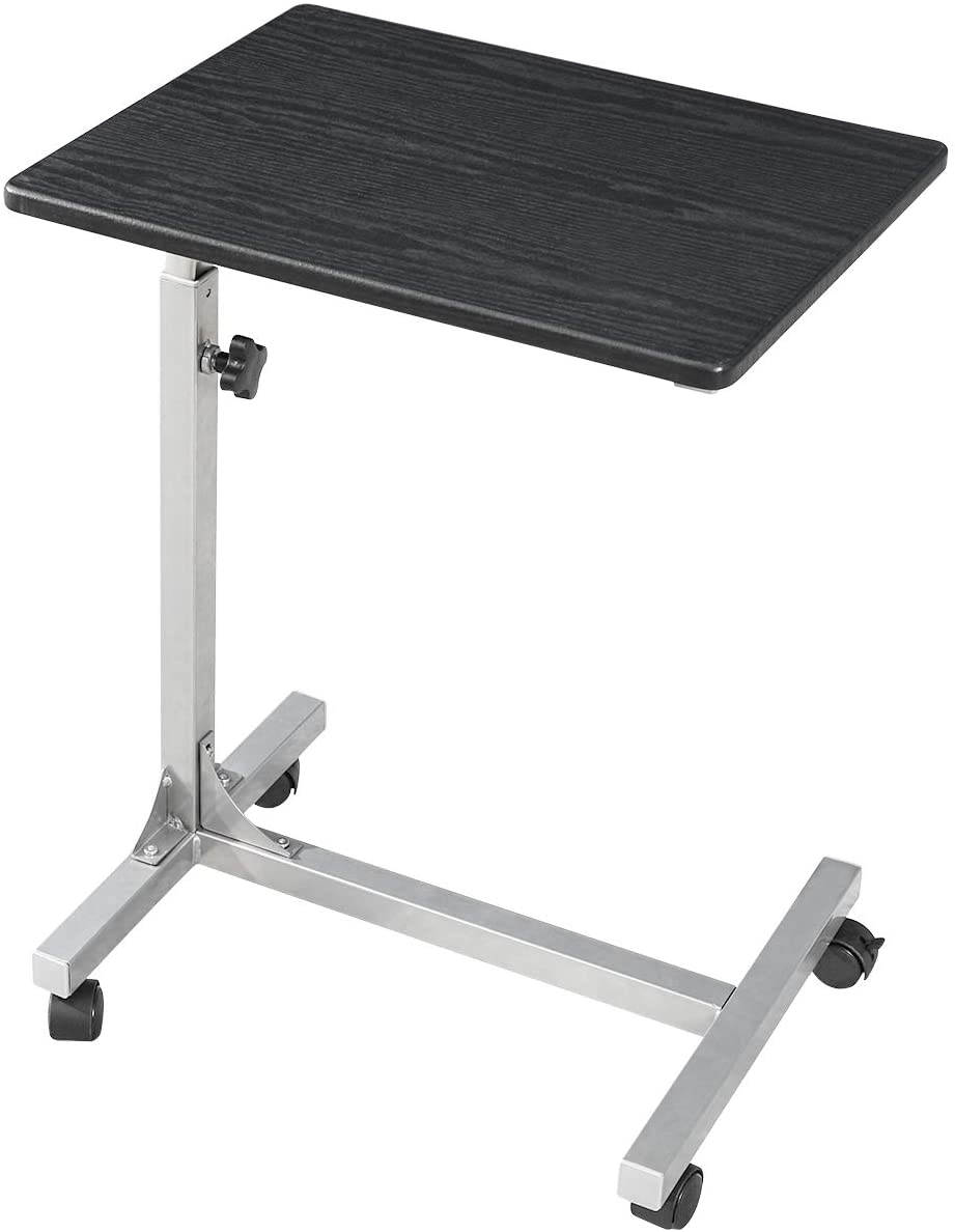 Coavas Over Bed Table C Side Rolling Table