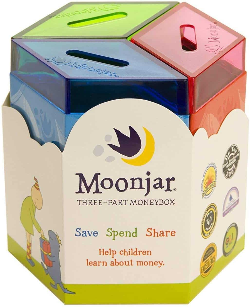 Moonjar Spend Classic 3-Part Moneybox Bank