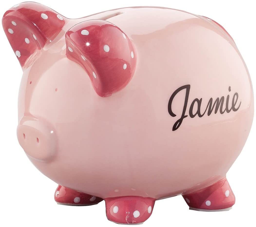 Personalized Ceramic Kids Piggy Bank