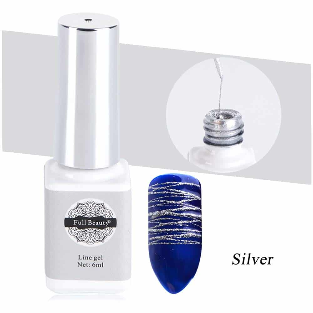 Silver spider Gel Nail Decals
