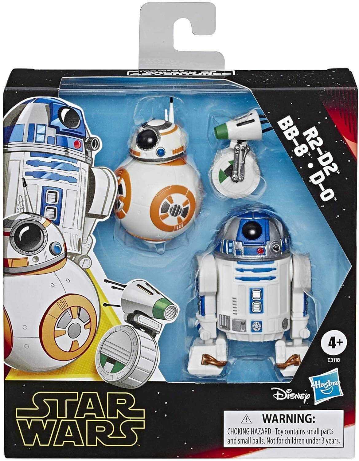 Star Wars Galaxy of Adventures R2-D2, BB-8, D-O Action Figure Pack