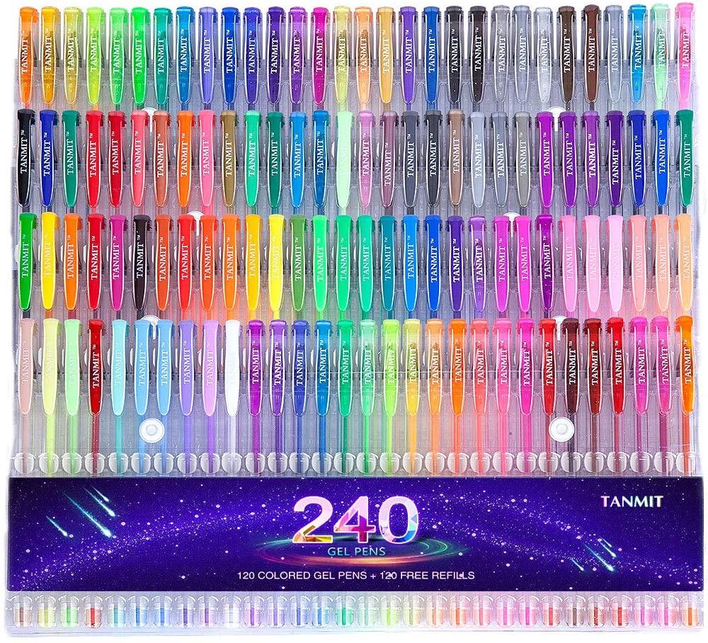 Tanmit 240 Gel Pens Set
