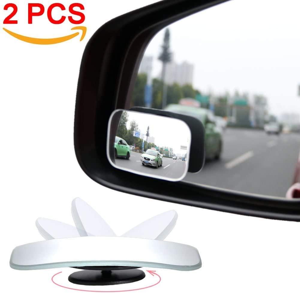 AmFor Frameless Convex Lens HD Glass Blind Spot Mirror