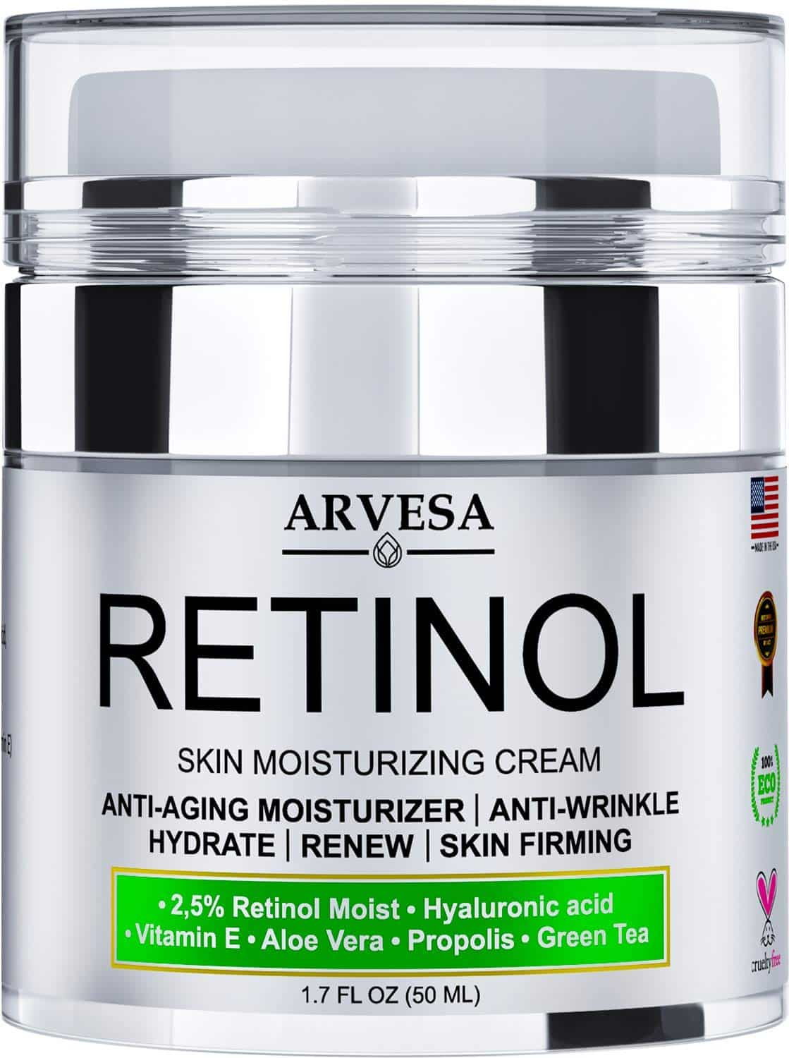 Anti-Aging Retinol Moisturizer Cream for Face, Neck & Décolleté
