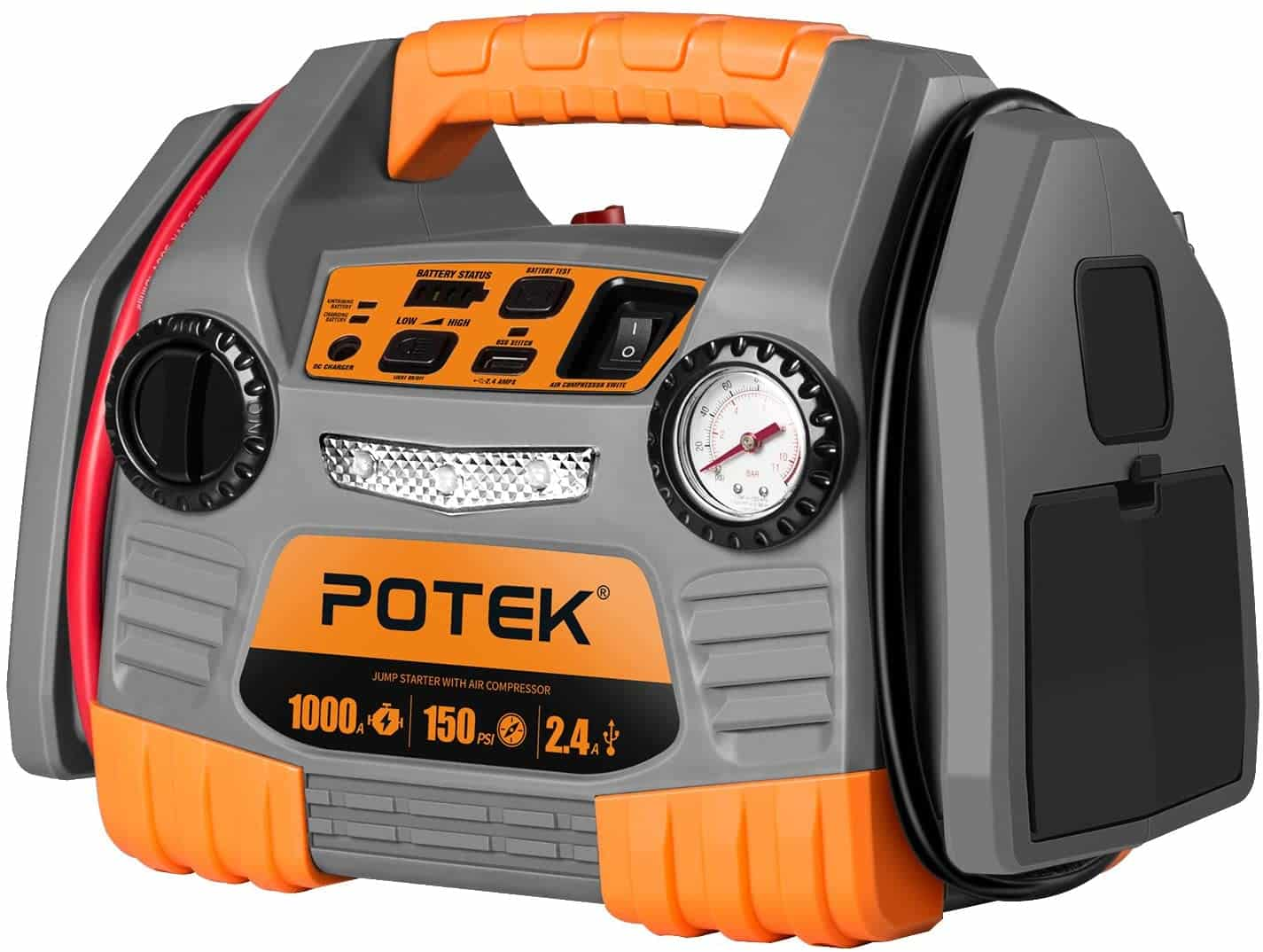 POTEK Car Jump Starter and Tire Inflator