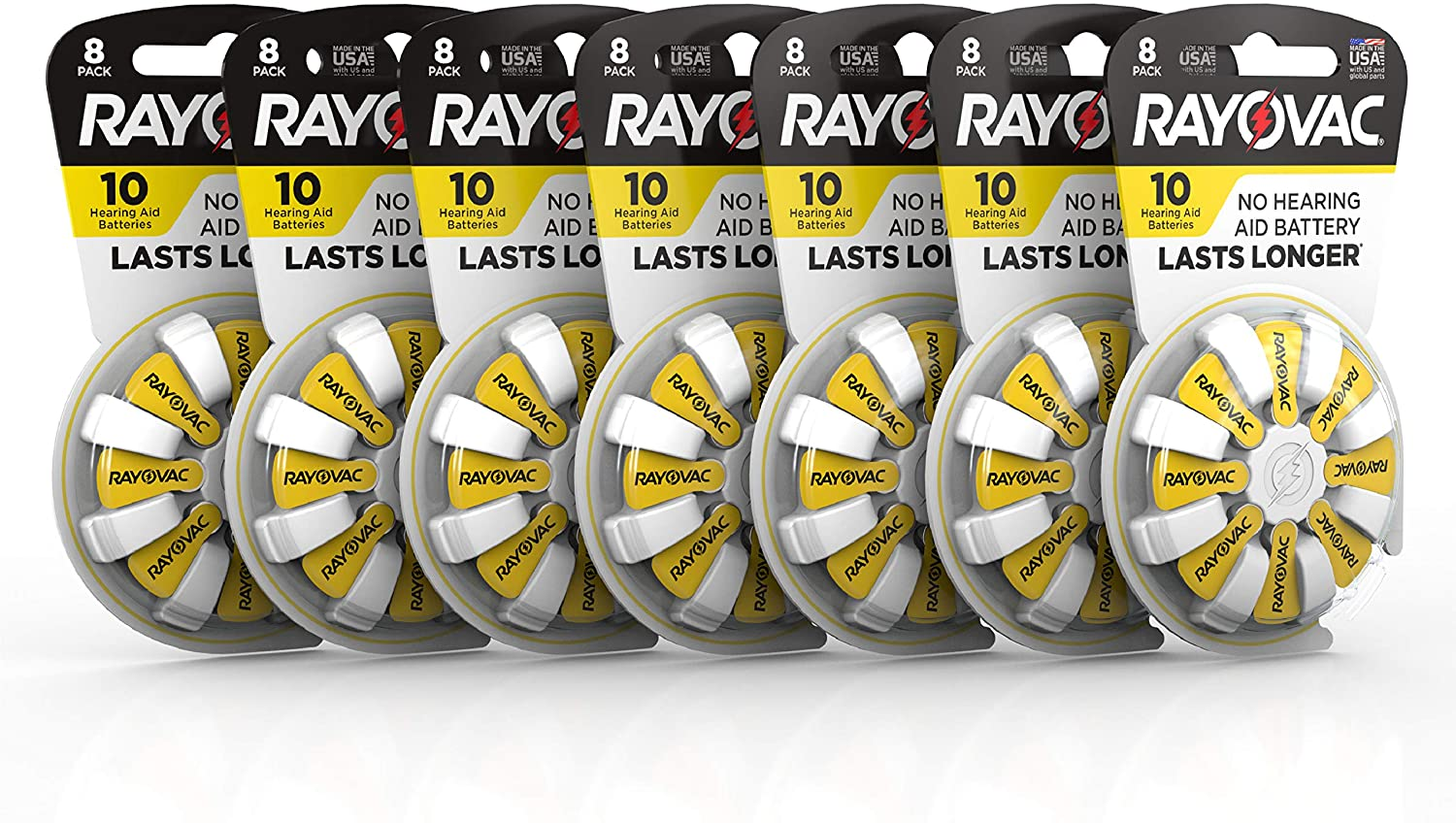 Rayovac Hearing Aid Batteries Size 10 for Advanced Hearing Aid Devices