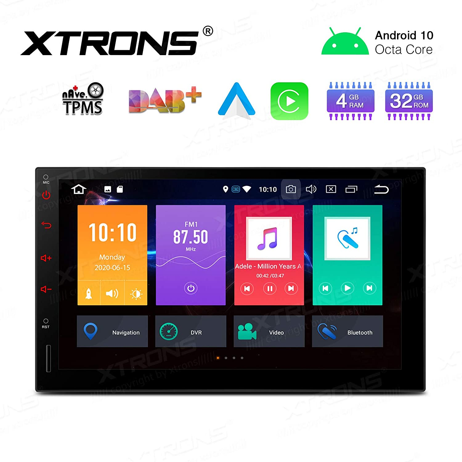 XTRONS 7 Inch Car Stereo