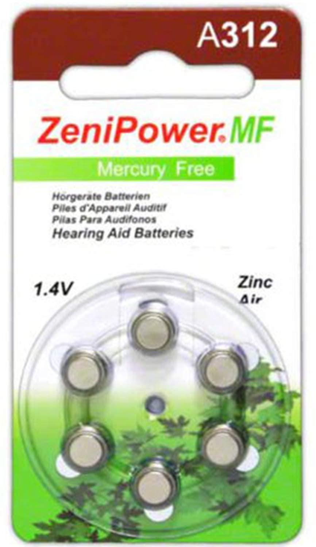 Zenipower Zinc-Air Hearing Aid Battery
