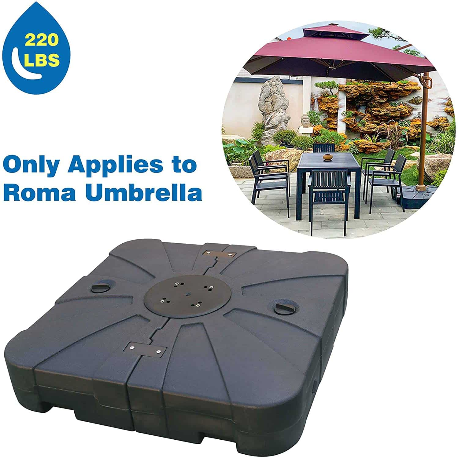 ABCCANOPY Patio Market Outdoor Umbrella Base Stand