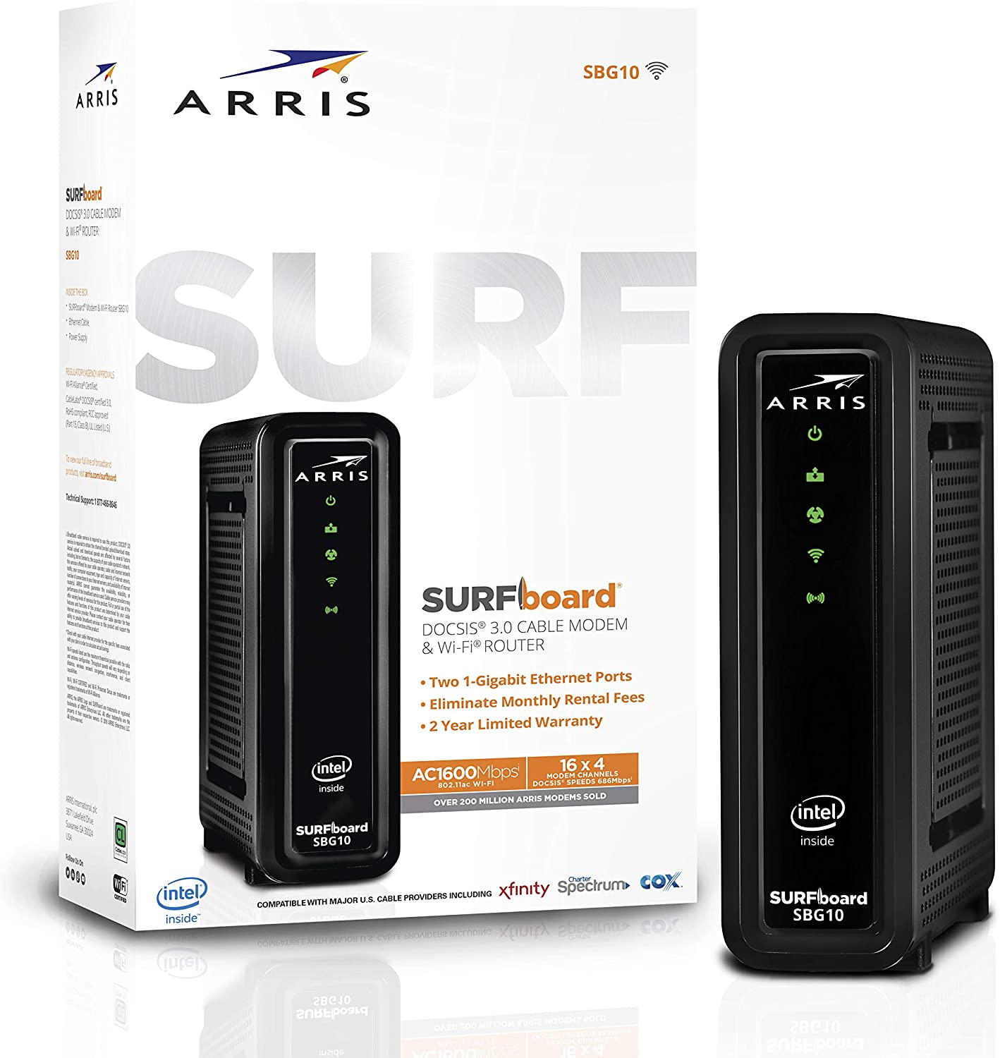 ARRIS Surfboard SBG10 DOCSIS 3.0 Cable